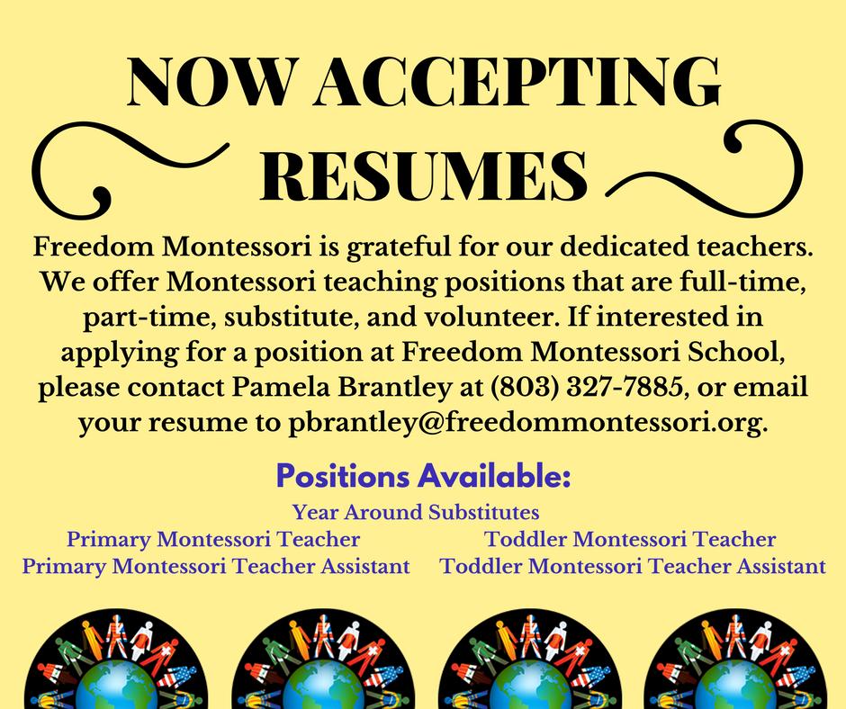 Montessori resumes